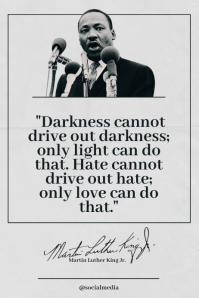 Martin Luther King Jr. Quote, Only Love Can Poster template