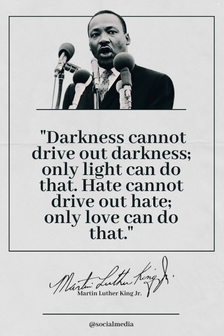 Martin Luther King Jr. Quote, Only Love Can Iphosta template