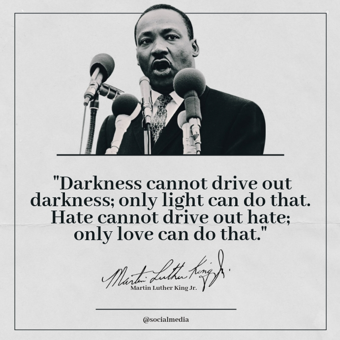 Martin Luther King Jr. Quote, Only Love Can Publicación de Instagram template