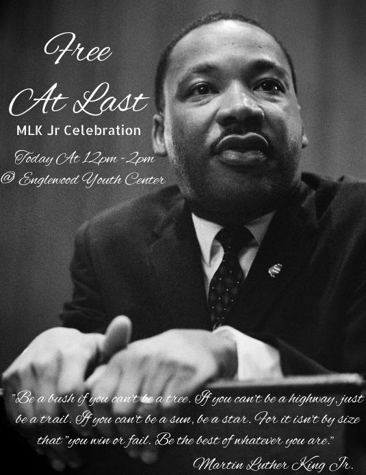 Martin Luther king jr black history month celebration flyer