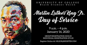 Martin Luther king jr. Service day Facebook-Anzeige template