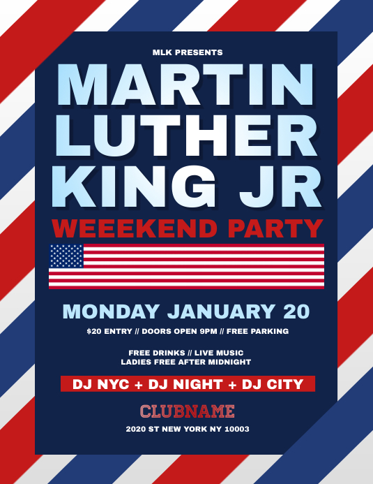 Martin Luther King MLK Flyer Template