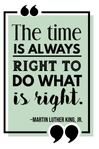 Martin Luther King Quote Poster template