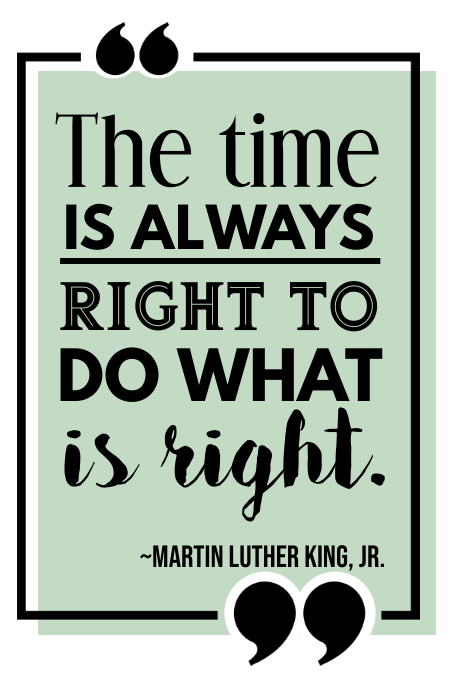 Martin Luther King Quote Poster