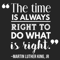 Martin Luther King Video Quote Template Square (1:1)