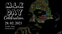 Martin Luthr King jr Day celebration poster Digitalt display (16:9) template