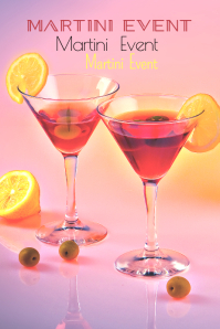 Martini Event Template Poster