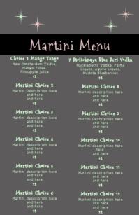 Martini Menu Retro Style Boulevardzeitung template