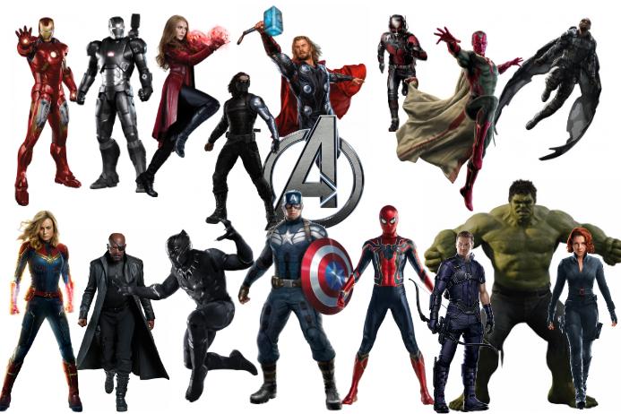Marvel Avengers Poster template