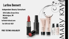 mary kay rep Visitkort template