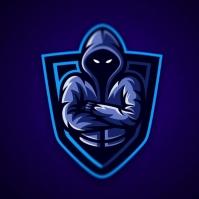 mascot logo game template design
