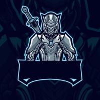 mascot logo gamers template design