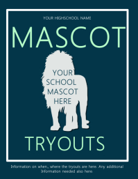 Mascot Tryouts Flyer Template