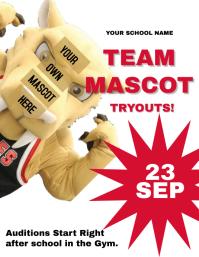 Mascot Tryouts School Flyer / Poster