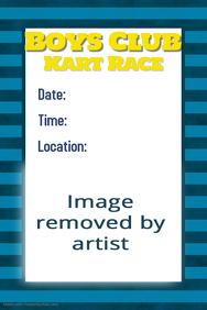 Masculine Boys Club Blue Stripe Preppy Poster Flyer Template