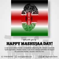 Mashujaa Day Poster template