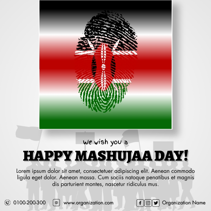 Mashujaa Day Pos Instagram template