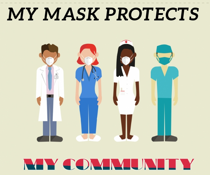 MASK AND COMMUNITY SIGN BOARD TEMPLATE 巨型广告