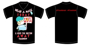 Mask Design Tshirt Facebook Gedeelde Prent template