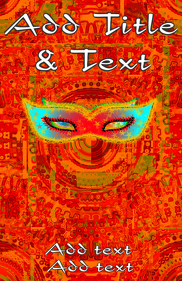mask warm colored in orange and some green shades
