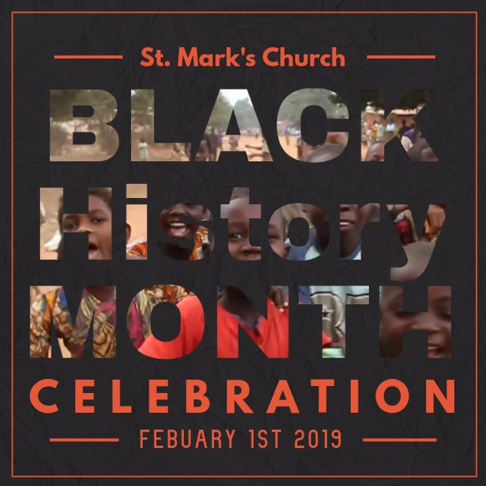 Masked Black History Month Square Video template