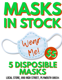 Masks In Stock Coronavirus Flyer Template