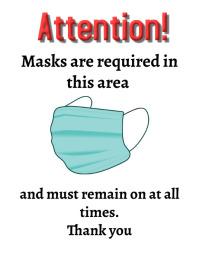 Masks required 传单(美国信函) template