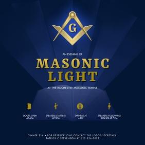 Masonic Light Organization Social Media Post Iphosti le-Instagram template