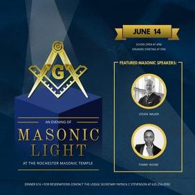 Masonic Light Organization Social Media Post template