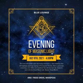 Masonic Organization Evening Event Social Med Square (1:1) template