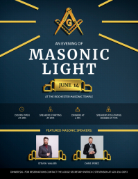 Masonic Organization from Darkness to Light F Flyer (US Letter) template