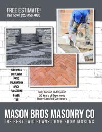 masonry brick concrete flyer template