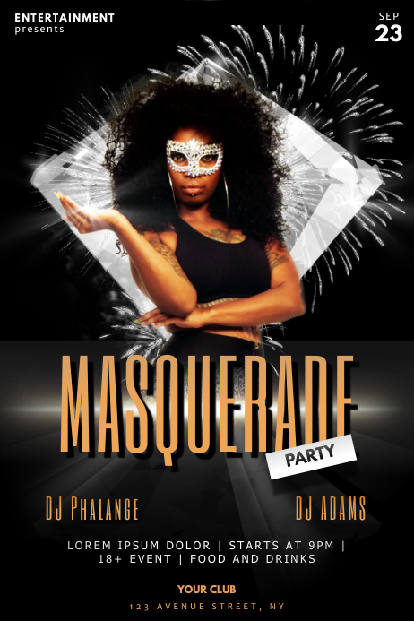 masquerade ball carnival flyer template postermywall