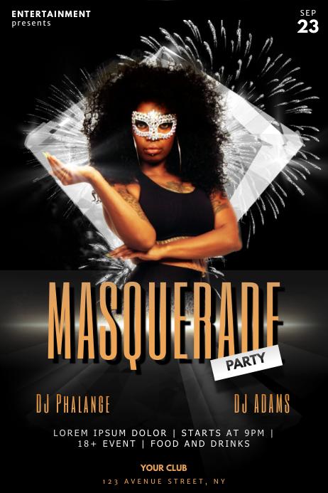 Masquerade Ball Carnival Flyer Template