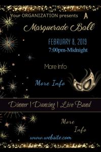 Masquerade Ball Poster Template