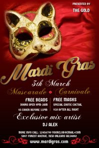 Masquerade Carnival Poster Template