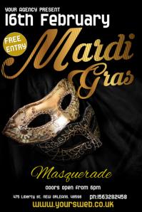 Masquerade Event Poster Template