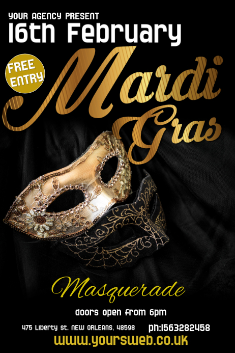 Masquerade Event Poster Template