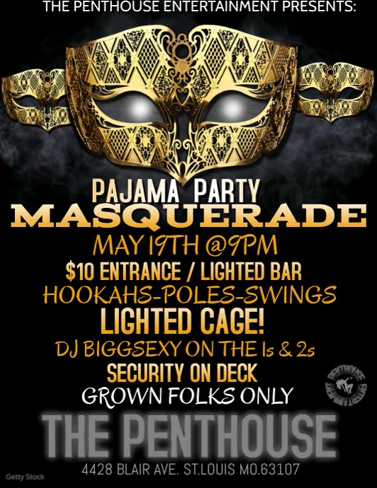 masquerade flyer customize template