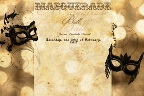 Masquerade Mask Antique Mardi Gras Ball Vintage Formal Party