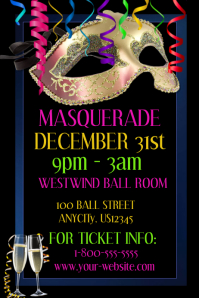 customizable design templates for masquerade party event postermywall