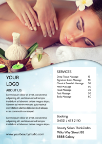 Massage Beauty Services Flyer Brochure Advert