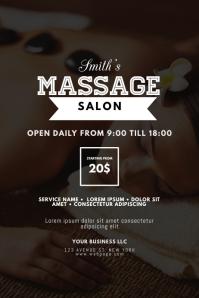Massage Beauty Spa Salon Flyer Template
