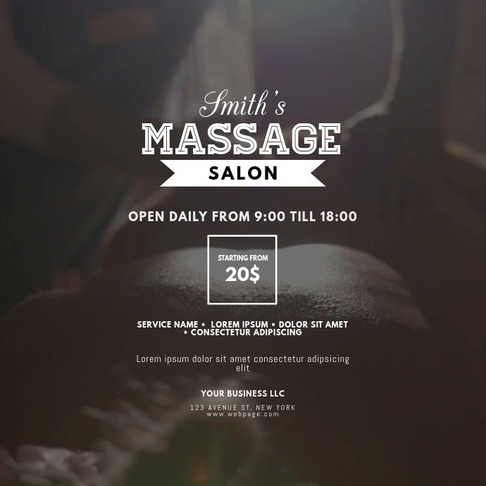 Massage Beauty Spa Salon video design