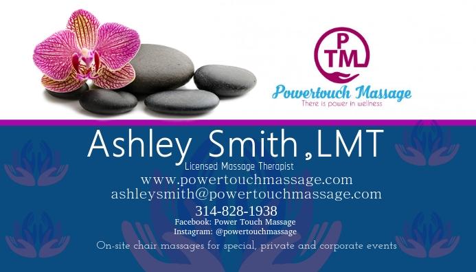Massage Business Card template