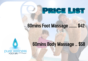 Massage Price List Poster