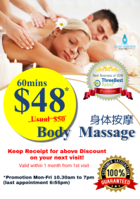 Massage Promotion Flyer Poster