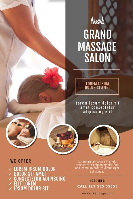 Massage Salon Flyer Template Poster