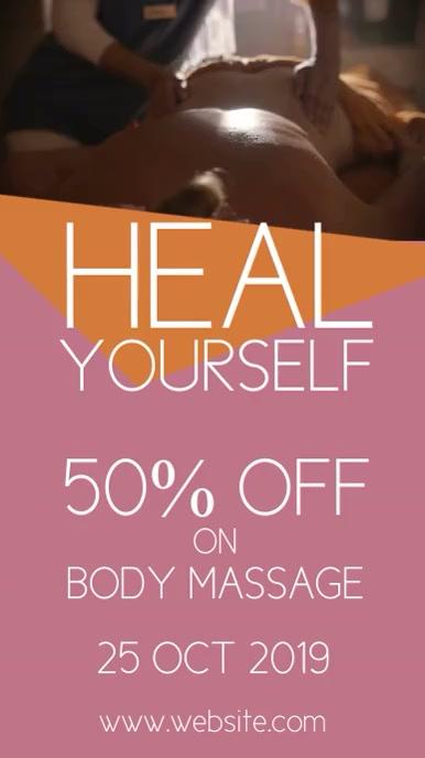 Massage spa Instagram Story template