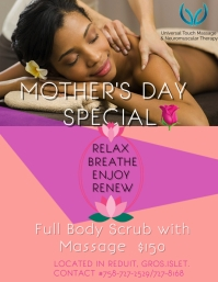 massage/spa flyer template